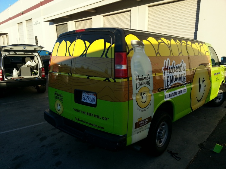 Hubert's lemonade van wrap in san jose