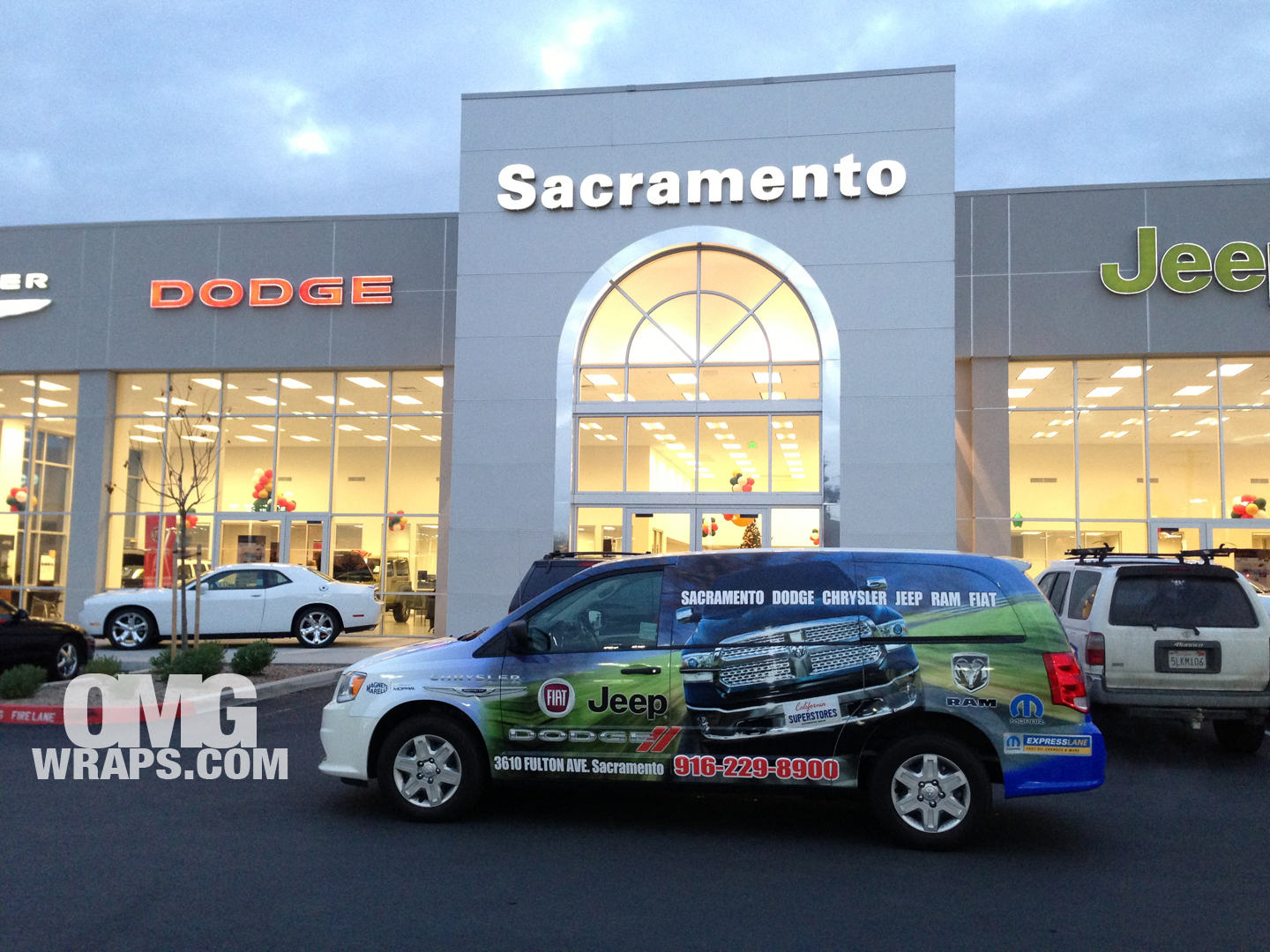 Great Sacramento Chrysler, Dodge, Jeep, Ram U0026 Fiat Get The OMG Car Wrap Treatment  | Car Wraps In San Francisco, Sacramento And Los Angeles