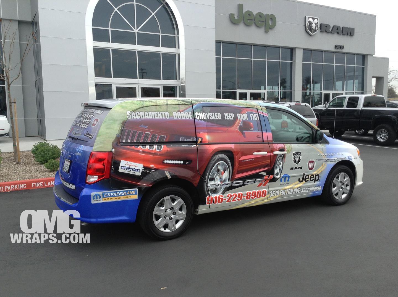 Sacramento Chrysler, Dodge, Jeep, Ram U0026 Fiat Get The OMG Car Wrap Treatment    Car Wraps In San Francisco, Sacramento And Los Angeles