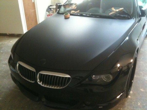 BMW in 3m Ultra Matte Black in process