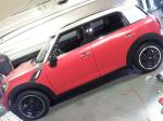 Mini Cooper Countryman in Satin Red Vinyl