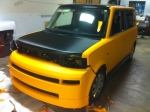 Scion XB Matte Yellow W/ Carbon Fiber Hood in Process