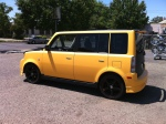 Scion XB Matte Yellow W/ Carbon Fiber Hood