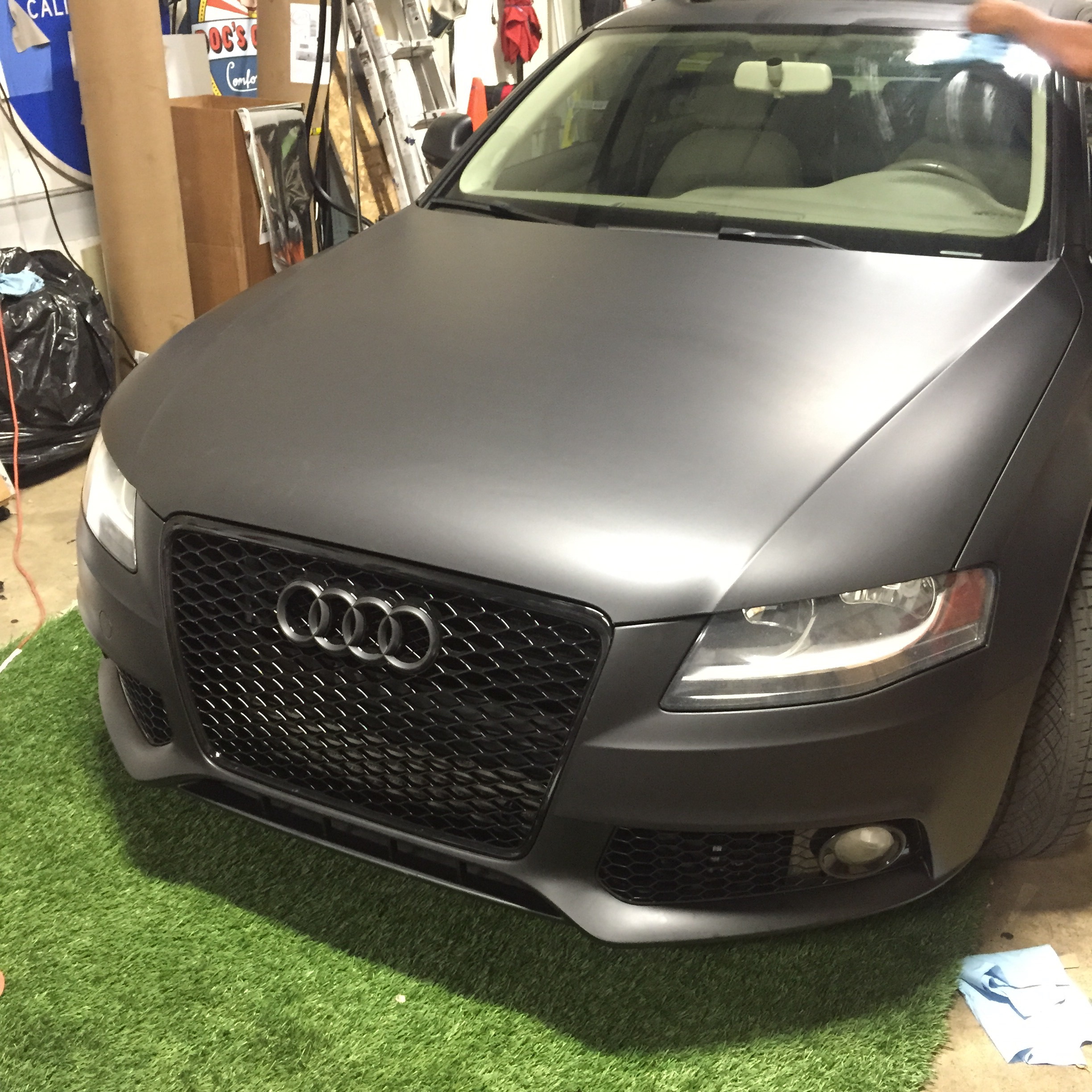 Matte Black Color Change Car Wrap